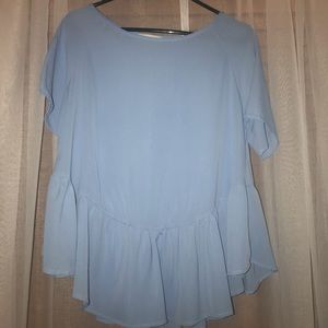 Light blue baby doll top